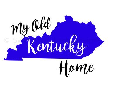 my kentucky home svg instant design for cricut or