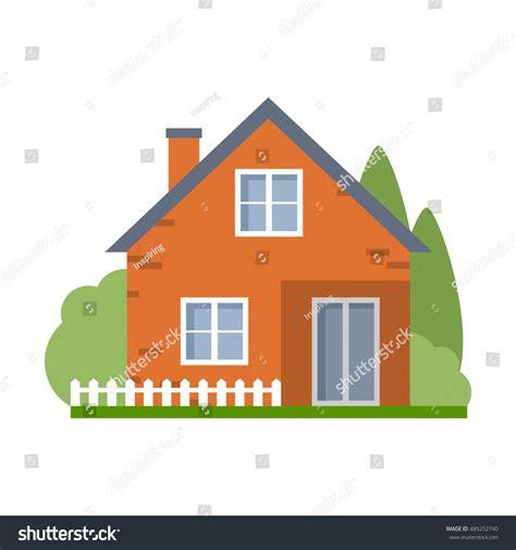 free cartoon house pictures house cartoon vector isolated cartoon house simple suburban house stock vector