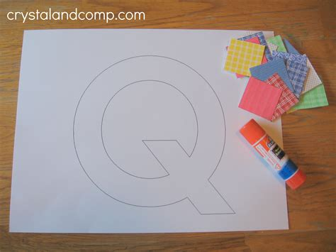 preschool crafts for letter of the week q is for quilt craft