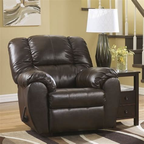 ashley leather recliners ashley dylan leather rocker recliner in espresso 7060325