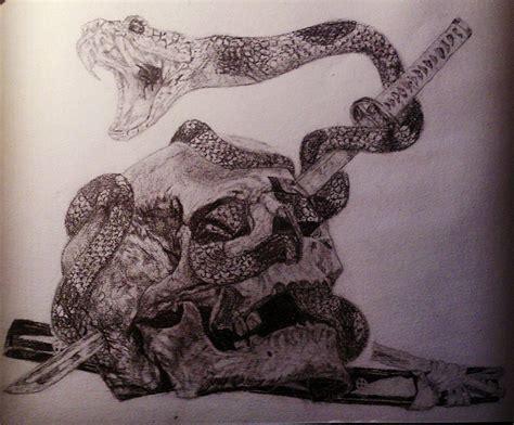 imagenes de calaveras y serpientes tattoos calaveras y serpientes por hasuart dibujando