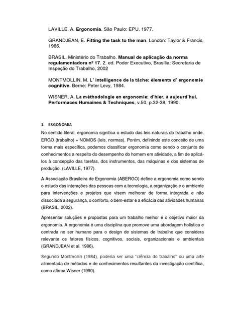 REFERENCIAS BIBLIOGRAFICAS ERGONOMIA