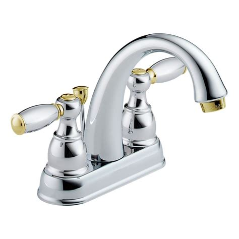 chrome and brass bathroom faucets delta 25995lf cb d two handle centerset lavatory faucet
