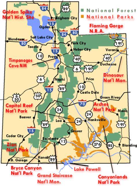 utah national parks map torrey and capitol reef utah national parks