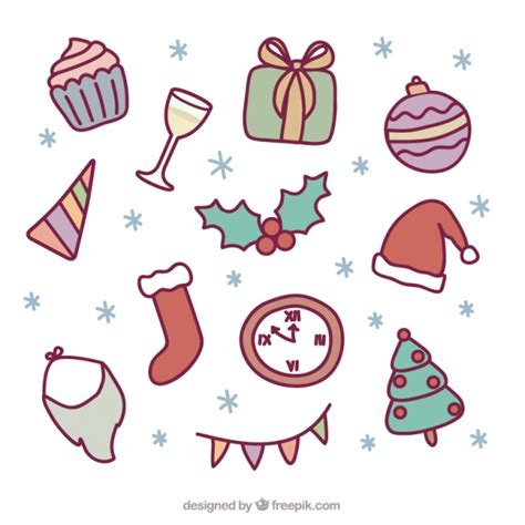 new year element vector free collection of elements and new year vector