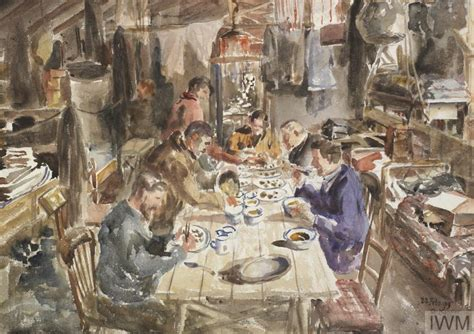 Records Before 1919 Last Supper Before Returning Feb 1919 Iwm 17054