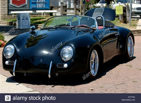 convertible porsche 356 porsche 356 speedster black convertible stock photo