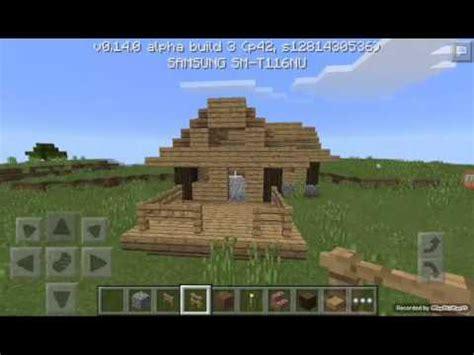 membuat rumah di minecraft cara membuat rumah sederhana di minecraft pe youtube