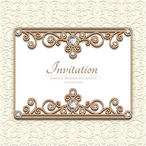 earring card template downloads vintage jewelry card invitation template stock