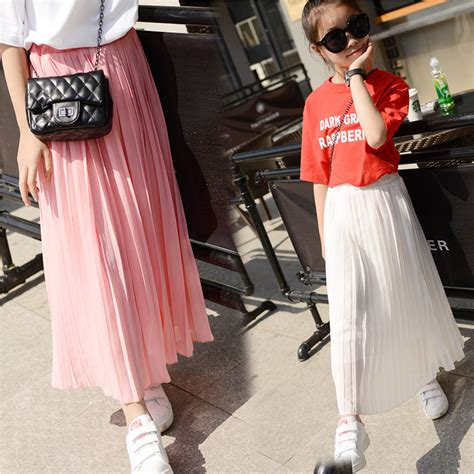pleated chiffon skirts 2016 new summer