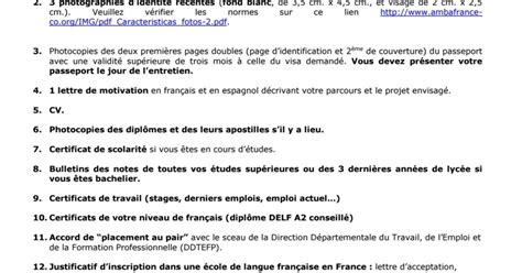 carta de motivacion para visa francia 161 t 250 lo puedes hacer documentos para la visa au pair francia carta de motivaci 211 n hoja de vida cv