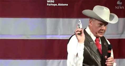 roy moore gun this gop senate candidate pulled out a gun at a caign