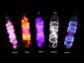argon color set of noble gases in oules helium neon argon krypton
