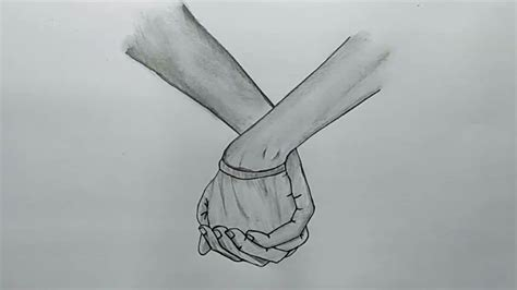 Sketches Holding by How To Draw Lovely Holding With Pencil Sketch Step