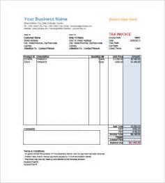 Tax Invoices Template by Tax Invoice Templates 10 Free Word Excel Pdf Format