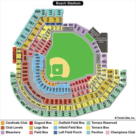 busch stadium section map busch stadium st louis cardinals ballpark ballparks of