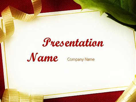 Beautiful Greeting Card Powerpoint Template Backgrounds 11508 Poweredtemplate Com Greeting Card Template Powerpoint