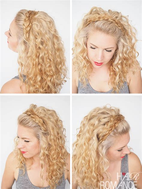 curly hairstyles headbands 30 curly hairstyles in 30 days day 27 hair romance