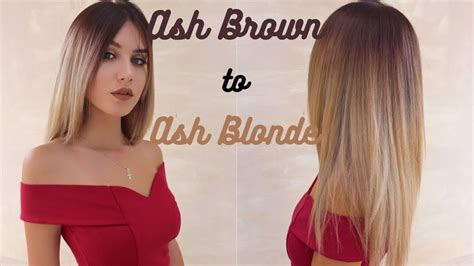 how to add brown roots on blonde hair ashy ash brown roots to white blonde ombre stella