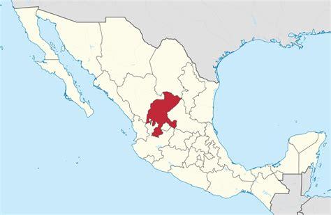 map of mexico zacatecas file zacatecas in mexico location map scheme svg