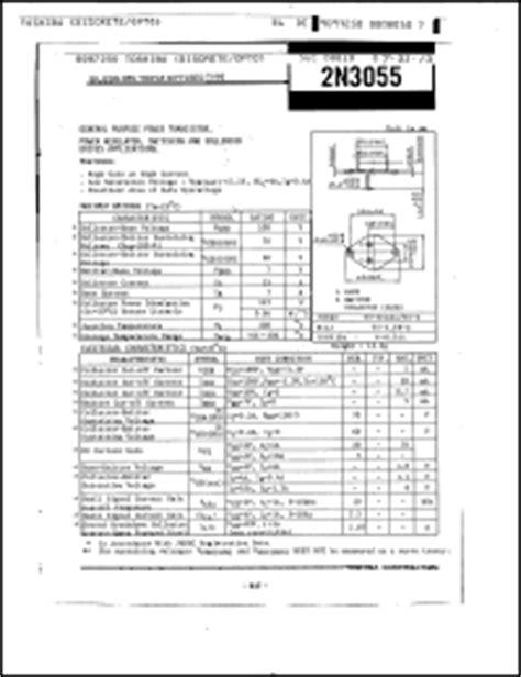 datasheet of transistor 2n3055 pdf toshiba 2n3055 datasheet