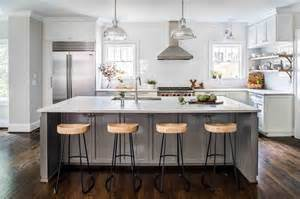 Gray Kitchen Island by Gray Kitchen Island With Wisteria Smart And Sleek Stools