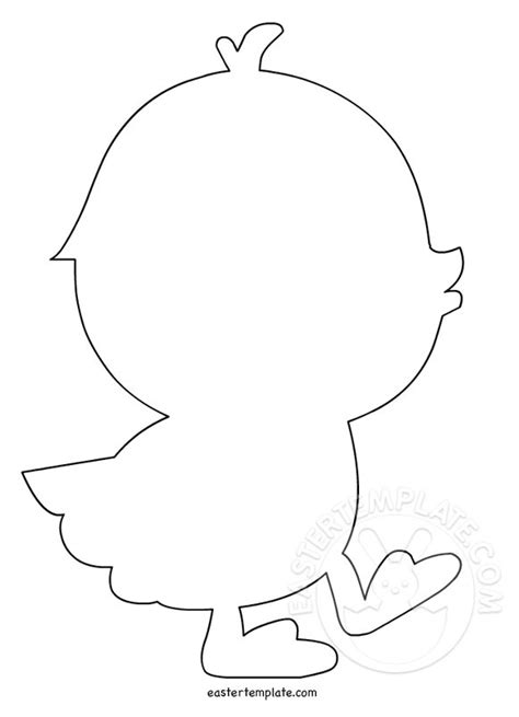 easter chick template printable easter template