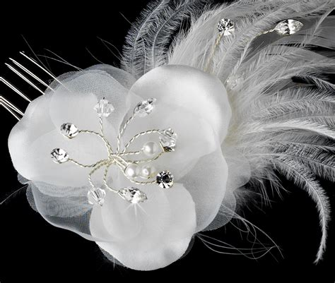 Vintage Bridal Hair Fascinators by Bridal Feather Fascinator With Veil Bridal Hair