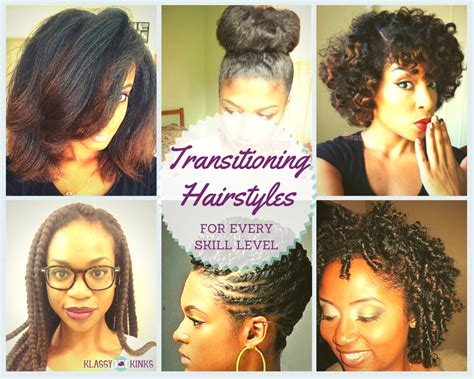 hairstyles for transitioning from a relaxer transitioning hairstyles for every skill level klassy kinks