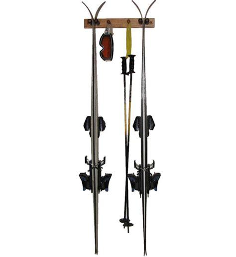 Wooden Ski Rack by Wooden Ski Rack Vertical Oak In Sports Equipment Organizers