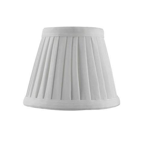 empire pleated l shades clip on empire pleated white l shade sh9658