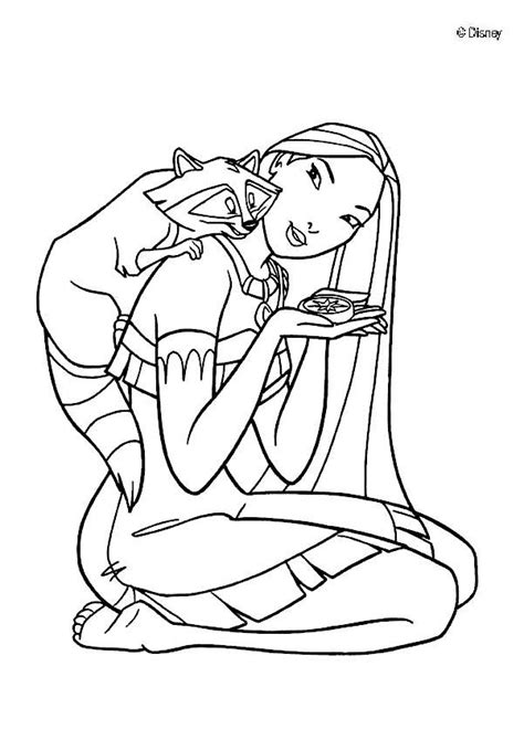 pocahontas and meeko coloring pages hellokids com