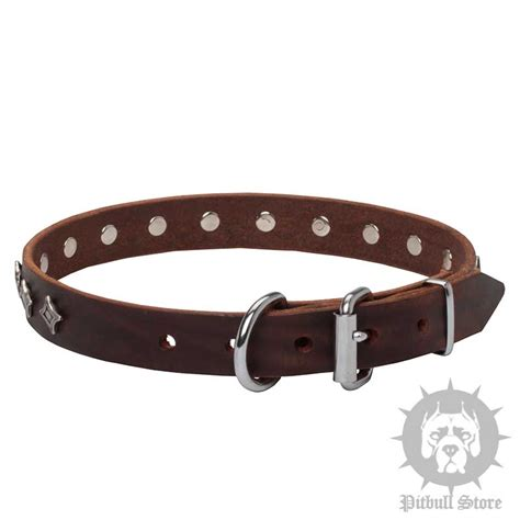 collar with handmade leather collars 163 44 20