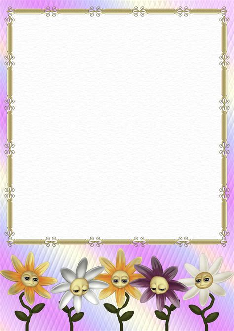 floral stationery papers page