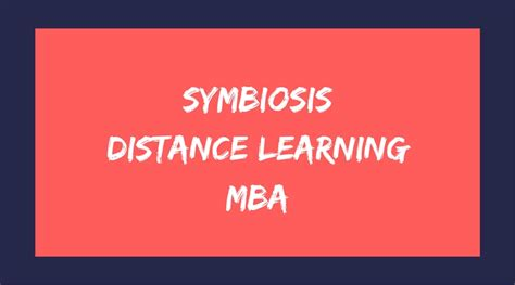 Distance Learning Stanford Mba by Symbiosis Distance Learning Mba Admission Fee Structure 2018