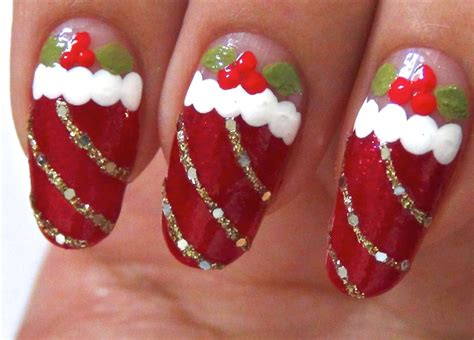 easy nail art for xmas christmas nail art designs acrylic nail designs