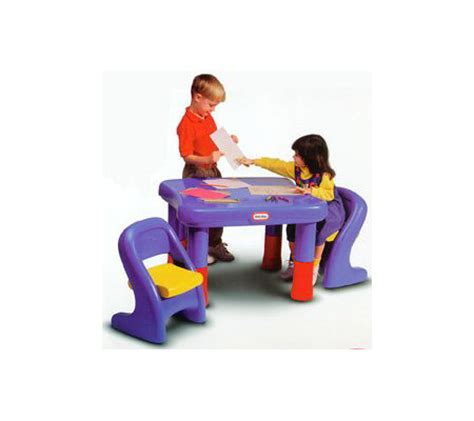 tikes table set tikes 7749 adjustable table chairs set qvc com