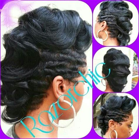 fingerwaves freeze updo for an black american female 1000 images about dry waves on pinterest short