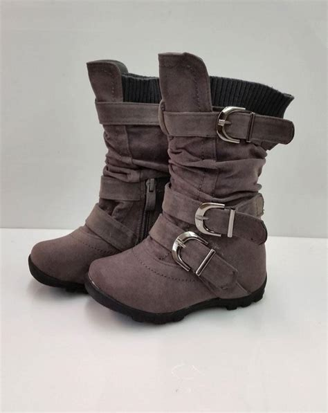 boots toddler new toddler gray suede boots size 4 5 6