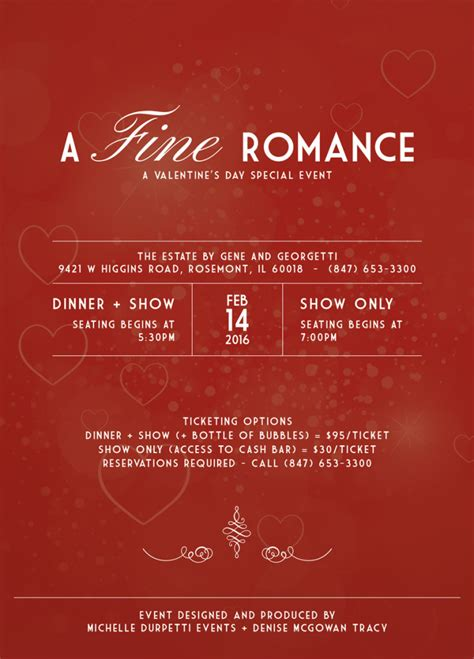 valentines day events a a s day special event dinner