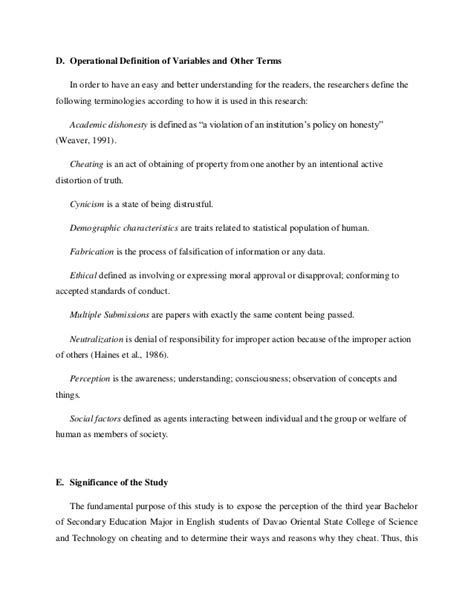 dissertation definition of terms research paper on academic