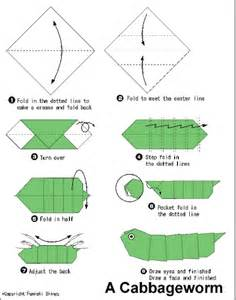 How To Make A Paper Worm - origami
