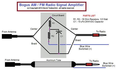 fm radio antenna lifier schematic diagram fm get free