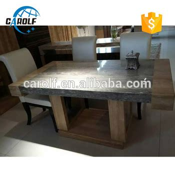 new design 6 seater nature yellow black marble dining