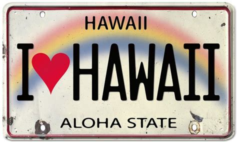 Vanity Plates Hawaii by Image Hawaii License Plate Size 1024 X 614 Type Gif