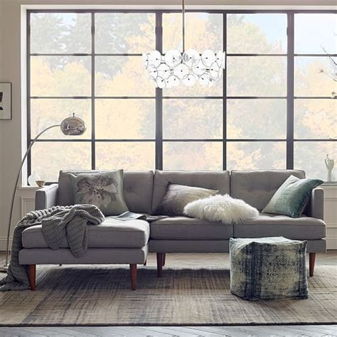west elm peggy sofa peggy mid century chaise sectional west elm