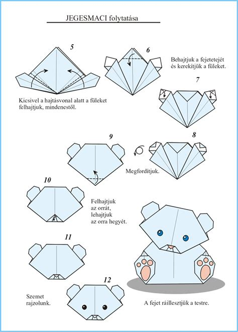 Origami Polar Folding - origami new year zsuzsiorigami