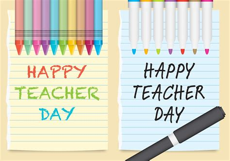 greeting card templates for teachers day vector day paper free vector stock