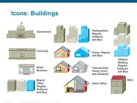 visio shapes buildings cisco network icon library