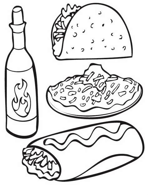 Mexican Food Coloring Pages mexican food coloring pages coloring pages